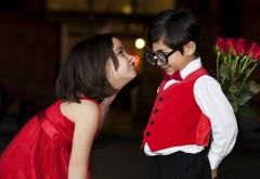 Романтические обои детей в день всех влюбленных
