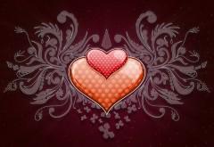 Абстрактные обои сердец