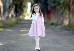 Девочка, платье, прогулка, ребенок, малышка