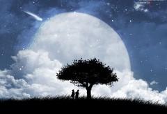 Любящие люди под деревом 3D