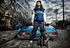 Рэпер, графити, дог, стильный автомобиль, картинки, рэп