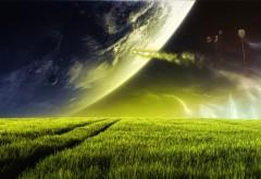 Фэнтези природа на фоне космоса обои бесплатно