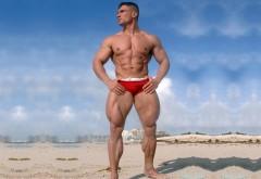 Нереальный мужик в красных плавках боксерах картинки