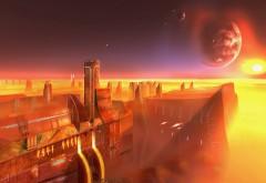 Фэнтези город на фоне космоса фото скачать бесплатно