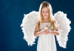 Обои девочки с крыльями ангела на рабочий стол