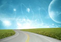 Дорога в фантастическое будущее 3d фэнтези обои