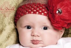 Маленькая девочка с цветочком обои скачать