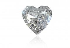Сердце из брильянтов на день всех влюбленных
