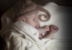 Малыш, младенец, ребёнок, дети, сон, спит, одеяло, шапка