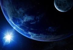 Мир, космос, небо, голубой, звезды, земля, звезда