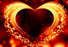 Пылающее сердце на день всех влюбленных