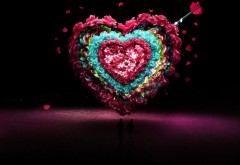 Прекрасное сердце из цветов