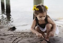 Ребёнок, малышка, девочка, пляж, настроение