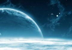 Космос, холод, небо, астероиды, планета, мир, звезды