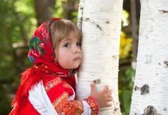 Девочка, ребёнок, лето, роща, берёза, наряд, платье, росс…