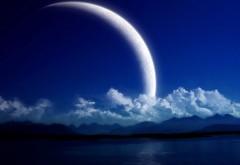 Ночная луна обои природы скачать