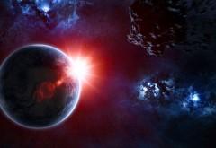Солнечное затмение, космос, звезды, сфера