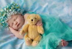 Ребенок, сон,младенец, игрушка, настроение
