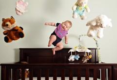 Настроение, радость, веселье, полет, ребенок, лялька