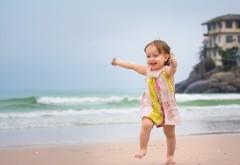 малышка, море, пляж, настроение, ребенок, девочка