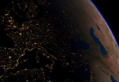Вид из космоса Европы, обои планеты Земля