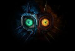 Рисунок необычной кибер маски
