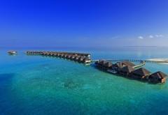 Курортные домики посреди открытого океана