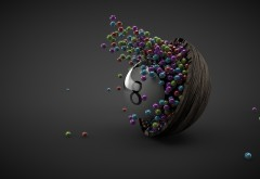 Абстрактные обои шариков скачать бесплатно