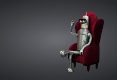 Футурама Бэндер Родригес в красном кресле