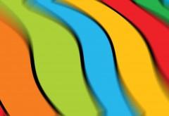 Абстрактные обои разноцветные линии