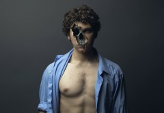 Креативные картинки парня с головой черепа