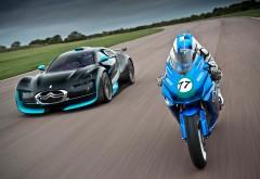 Citroën Survolt vs Agni Z2 Мотоцикл и спорткар 2560x1600