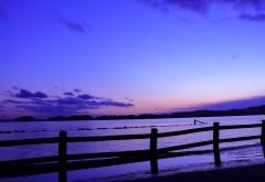 Японский пляж берег моря
