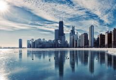 Обои мегаполиса с большими небоскребами