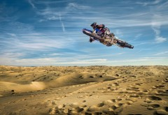 Спорт, мотоциклы, байки, пустыня, финты, прыжки, байкер