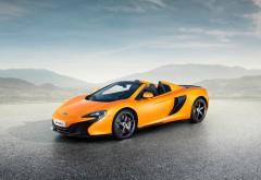 2015 McLaren 650S Spider желтый спорт кар
