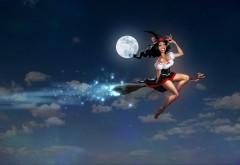 Ведьма на метле картинки