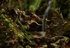 Сказочный рисунок необычного дракона