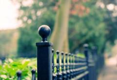 1920x1200, макро, железный забор, парк