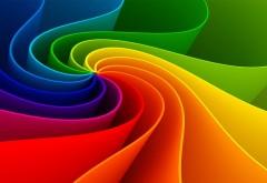Радужная абстракция волнистых линий