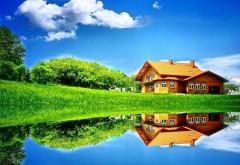 Красивый домик у озера