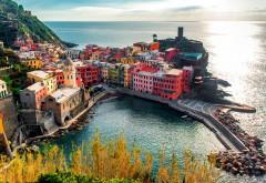 Италия Вернацца Красочные дома