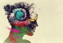 Абстрактный рисунок девушки