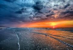 Природа пейзаж синее море восход 1920x1200