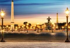 1920x1080  Площадь из фонарей в Париже
