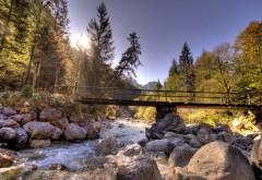 2560x1600, Камни, мост и солнце