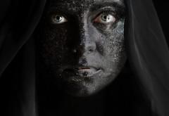 2560x1600,  Девушка с черным лицом