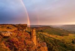 2560x1600, Замечательный горный пейзаж с радугой