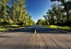 2560x1600, Снимок дороги из мчащейся машины