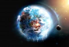 2560x1600  Фантастический космический пейзаж планеты земл�…